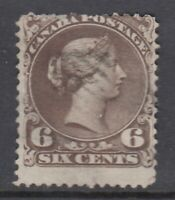 "Canada Scott #27 6 cent dark brown  ""Large Queen""  F **"