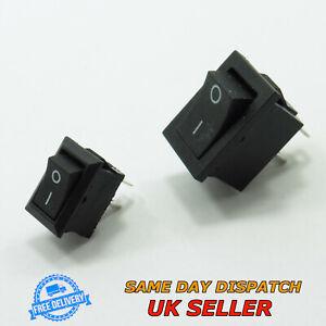 250V Black ON/OFF Rocker Switch Rectangle SPST Plastic Single Pole Single Throw