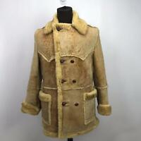 Shearling   44 Mens Sheepskin Fur Suede Leather Sherpa Marlboro Ranchers Coat