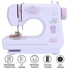 Portable Table Sewing Machine Overlock Multifunctional Embroidery Tool EU Plug