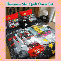 China Chairman Mao Quilt Doona Duvet Cover Set - SINGLE DOUBLE QUEEN KING