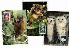 2009 Australia Earth Hour Maxi Cards Set of 3 Clean