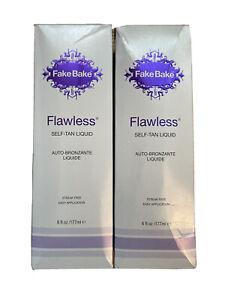 (2) FAKE BAKE FLAWLESS SELF TANNING LIQUID 6oz SPRAY & PROFESSIONAL MITT KIT