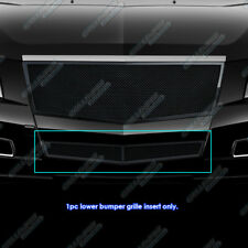 For 2008-2013 Cadillac CTS Bumper Black Stainless Steel Mesh Grille Grill
