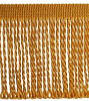 ab 5,0 lfm Fransen 80 mm (1,19  €/m) Gold Gelb  Borten Zierband Schnittfransen