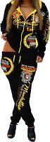 Mujer Chándal Jogging Pantalones Chaqueta Pantalón deportivo Fitness Neón