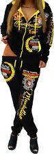 Damen Jogginganzug Jogging Jacke Hose Sportanzug Sporthose Fitness Neon XXS-5XL