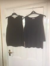2 Top - 1 Black And 1 Navy - Both 18 -NWOT