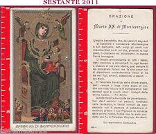 3269 SANTINO HOLY CARD  MADONNA MARIA SS. DI MONTEVERGINE KJM ORAZIONE
