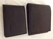 NWT Coach Men's Leather Compact ID Wallet In Sport Calf Black F74991 MSRP  $175