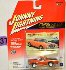 JOHNNY LIGHTNING WHITE LIGHTNING CLASSIC GOLD 1971 CHEVY EL CAMINO SS BAD CARD