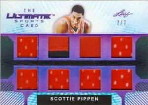 2019 Leaf Ultimate Sports Scottie Pippen Jersey Relic 8 Piece Card #d 7/7