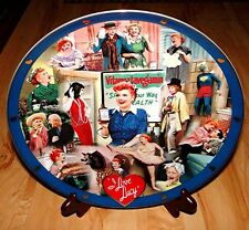 """LUCILLE BALL I Love Lucy DANBURY MINT Test Market Collector's 12"""" Plate - RARE!"""