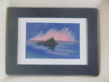 ST MICHAEL'S MOUNT AT DAWN Cornwall Original Painting framed oil pastel picture