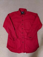 Vtg Woolrich Red Shirt Jacket Cotton Mens Size medium
