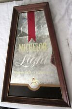 MICHELOB LIGHT MIRRORED HANGING BEER SIGN ** ANHEUSER-BUSCH** BACK BAR SIGN