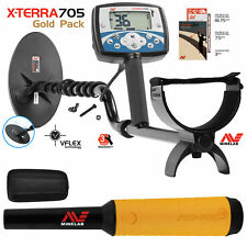 Minelab X-Terra 705 Gold Pack Metal Detector with Pro Find 15 Pinpointer