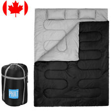 PHAT® 2-Person Double Sleeping Bag Outdoor Camping Hiking Backpack W/ 2 Pillows