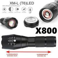 5000Lumens Tactical Flashlight X800 LED Military 5Modes Adjustable Torch Lamp