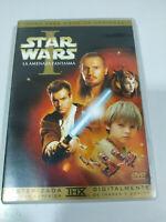 STAR WARS Episodio I La Minaccia Fantasma Lucasfilms 2 X DVD Spagnolo Libro - 3T