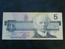 1986 UNC Canada $5 Five Dollar Birds of Canada EBN Crow / Bouey Yellow BPN