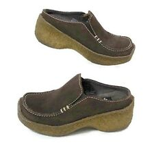Yellow Box Shoes Girls 1 Brown Suede Leather Slip On Gum Sole Depot II