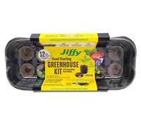 Jiffy Peat Pellet 36mm Windowsill  Greenhouse Seed Starter Kit Grows 12 Plants