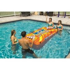 """WOW Floating Pool Beer Pong Table 89""""X42"""" Heavy Gauge PVC House Rules Included"""