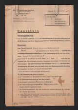 ZEITZ, Brief Bauschein 1941, Der Oberbürgermeister Baupolizei