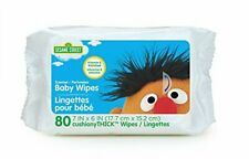Sesame Street Baby Wipes, 80 Count, White, Large