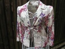 Cropped Floral Linen Outer Shell Coats, Jackets & Waistcoats for Women