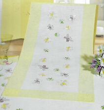 Rico Design - BUTTERFLY Table Runner - Fabric stamped for Embroidery, Kit, OOP