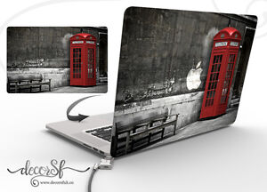 London Phone Booth Design Wrap Skin Sticker for Macbook 13 Laptop Cover Decal