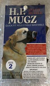 HAMILTON PRODUCTS:  H.P. Mugz Adjustable Quick Fit Soft Dog Muzzle, BN Size 2