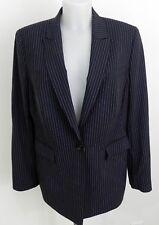 Veste de costume femme ESCADA, noire lignée beige, taille 44