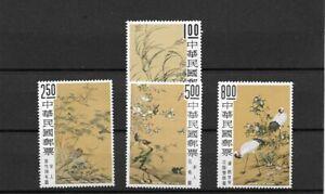 Formosa - Altchin. Blumen-u. Vögel-Gemälde Mi.-Nr. 738-741 Satz xx