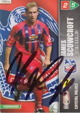 JAMES SCOWCROFT HAND SIGNED CRYSTAL PALACE PANINI 2008 CHAMPIONSHIP TRADING CARD
