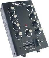 2-Kanal Mini-Mixer IBIZA MIX500 MIX 500 Mini Mischpult Mixer kompakt