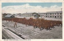 Postcard Military Review Camp Sherman Chillicothe OH