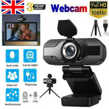 More details for 1080p full hd usb webcam web camera with microphone for pc desktop & laptop uk