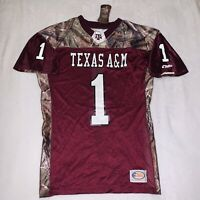Texas A&M Aggies Realtree Camo Football Jersey Mens Size Medium Made In USA