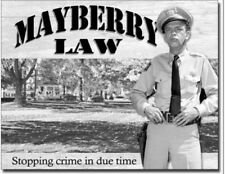 Mayberry Law Metal Tin Sign Barney Fife Andy Griffith Show Home Wall Decor New