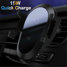 For Samsung Note 20 Ultra S10+ 15W Qi Car Wireless Fast Charger Charging Holder