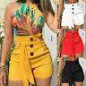 L/P Übergröße Damen Sommer Bermuda Shorts Freizeit Kurz Hose Hohe Taille Hotpant