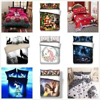 Duvet Cover Quilt Cover Bedding Set with Pillow Cases Single/Double/King Sizes