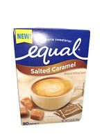 Equal Zero Calorie Sweetener Salted Caramel 80 Packets Per Box Best By 9 11 21