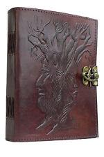 Baum Indien Lederbuch Tagebuch Vintage Antik Notizbuch PREMIUM PAPIER Handarbeit