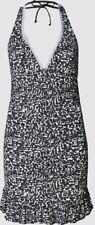 M & S Amalfi Plunge Skirted Swimsuit Secret Slimming Uk 12 Halterneck Bnwt Black