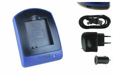 Cargador (USB) NB-6L para Canon IXUS 85 IS, 95 IS, 105, 107, 200 IS, 210, 300 HS
