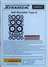 Xtradecal 1/48 X48031 WW2 RAF Roundels A Type and Fin Flashes